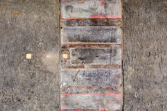 Old wooden background rusted door Royalty Free Stock Images