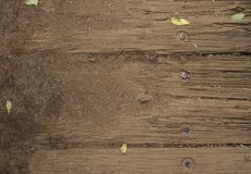Old wooden background texture on a house. Dust and dirt wood background texture stock images