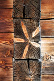 Old wooden background vertical tree rings Royalty Free Stock Images