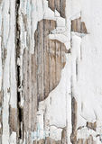 Old wooden background with white chapped paint Royalty Free Stock Photography