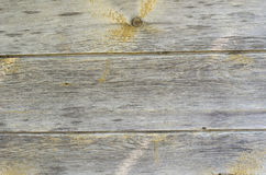 Old wooden background. Old wood with scuffs  fraying and knots background Royalty Free Stock Photos