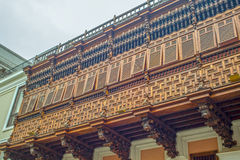 Old wooden balconies Royalty Free Stock Photo