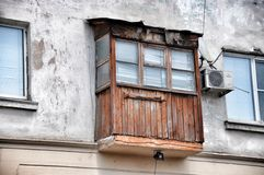 Old wooden balcony Stock Images