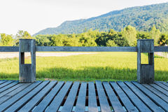 Old wooden balcony Royalty Free Stock Image