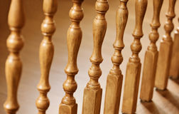Old wooden balusters Stock Photography