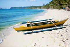Old wooden bangka boat Royalty Free Stock Photos