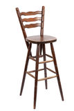 Old wooden bar stool, isolated on white Stock Photography