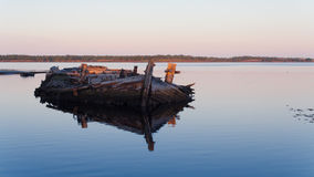 Old wooden barge Stock Photography