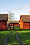 Old wooden barn. Swedish countryside  symbols, old red wooden barn Stock Photo