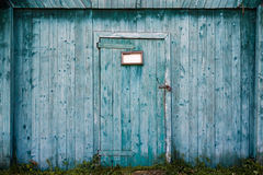 Old wooden barn door. Royalty Free Stock Photos