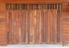 Old wooden barn door Stock Photo