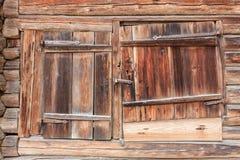 Old wooden barn door Stock Photos