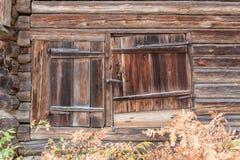 Old wooden barn door Stock Photo