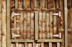Old wooden barn door Stock Photos