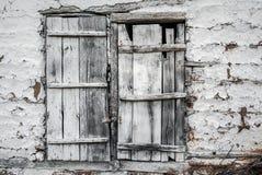 Old wooden barn door Stock Image