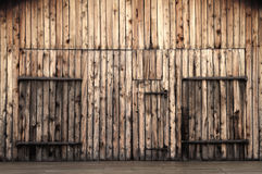 Old Wooden Barn Doors Stock Photography