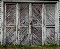 Old wooden barn doors royalty free stock images