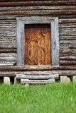 Old wooden barn entrance. Entrance to the old wooden barn. Ukraine Royalty Free Stock Photos