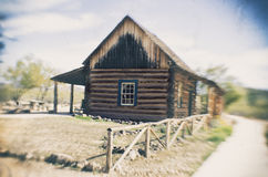 Old wooden barn farm house Pioneer style Stock Photos
