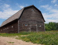 Old Wooden Barn In Field Stock Image