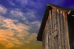 Old wooden barn in a German vineyard Royalty Free Stock Photo