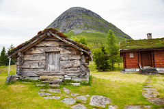 Old wooden barn and house in Norway Royalty Free Stock Photos