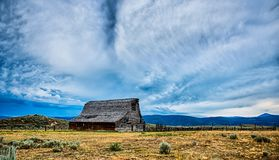 Old Wooden Barn In The Mountains In Montana Royalty Free Stock Images