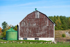 Old wooden barn Stock Images