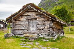 Old wooden barn in Norway Royalty Free Stock Photo