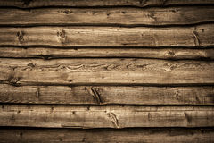 Old wooden barn wall. Bakcground with dark vignette borders Royalty Free Stock Photography