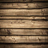 Old wooden barn wall. Bakcground with dark vignette borders Stock Images