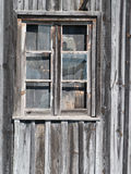 Old wooden barn window Stock Images