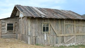 Old wooden barn. Old wooden barn with windows stock video