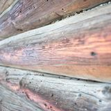 Old wooden barns Stock Images