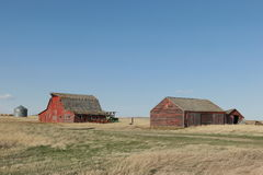 Old wooden barns Royalty Free Stock Image