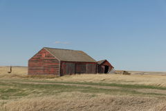 Old wooden barns Stock Photo