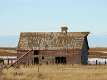 Old wooden barns Stock Image