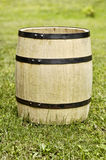 Old wooden barrel. Photo of old wooden barrel in the garden Royalty Free Stock Photography