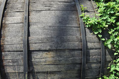 An old wooden barrel Stock Photo