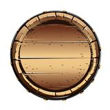 Old wooden barrel for alcohol. Vector illustration on white background royalty free illustration