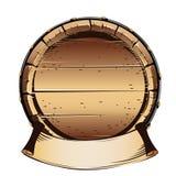 Old wooden barrel for alcohol. Vector illustration on white background royalty free illustration