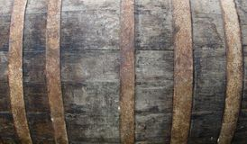 Old wooden barrel. Detail of an old wooden barrel Stock Photo
