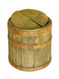 Old wooden barrel.Isolated. Stock Images