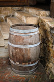 Old wooden barrel outdoors Stock Photography