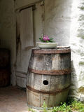 Old Wooden Barrel Rustic Decoration Royalty Free Stock Images