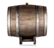 Old wooden barrel on stand Stock Image