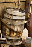 Old Wooden Barrel on a Wagon Stock Image