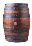 Old wooden barrel. On white background royalty free stock photos
