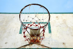Old wooden basketball board Royalty Free Stock Image