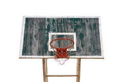 Old wooden basketball hoop Stock Photo
